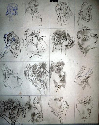 planche de 16 portraits