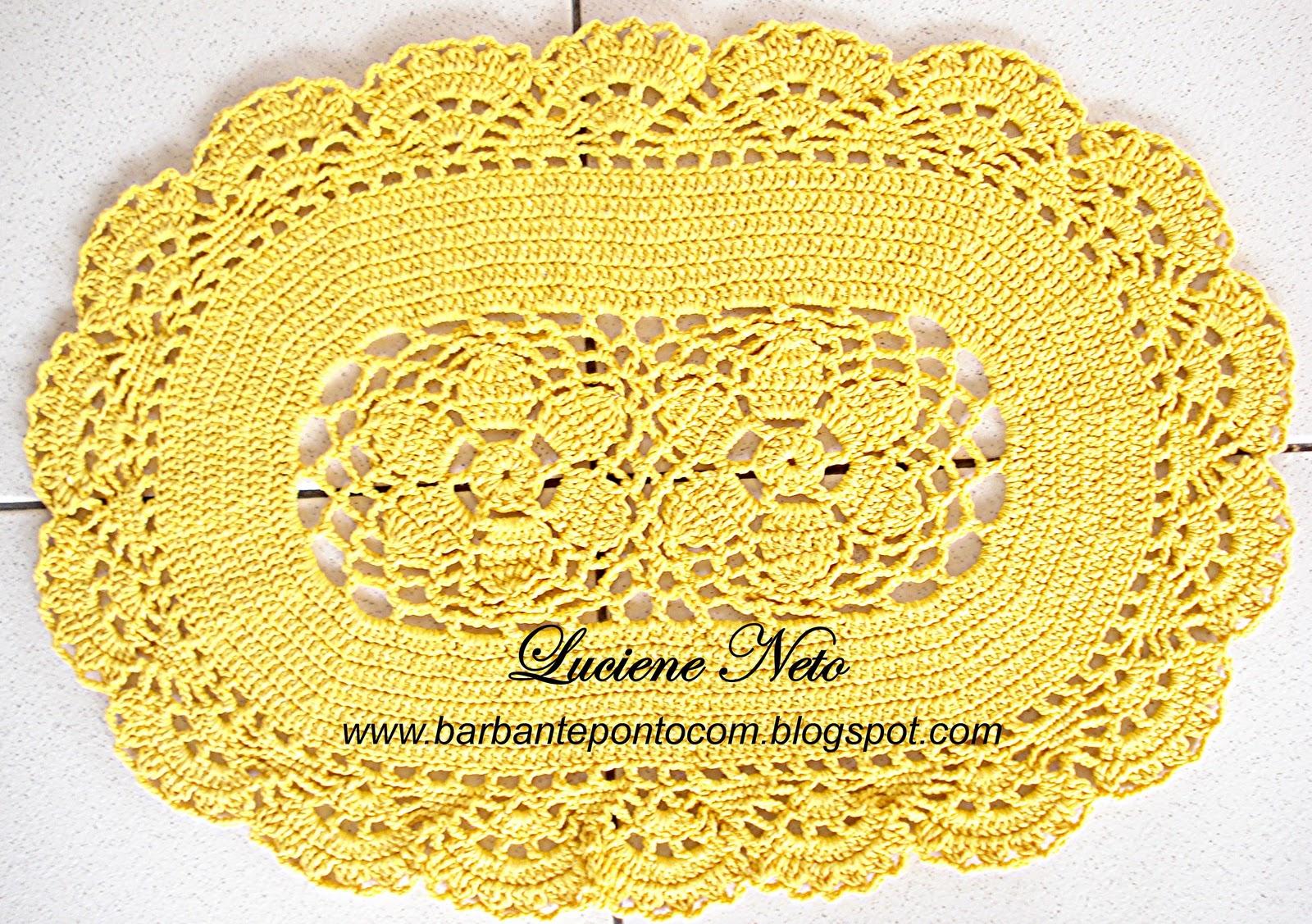 Tapete Oval Amarelo Barbante Pioneiro barbantepontocom #BBA610 1600 1127