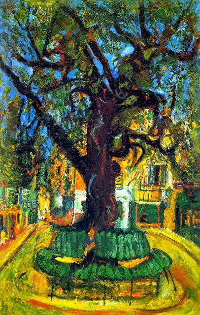 Chaim Soutine - Village Square, Vence