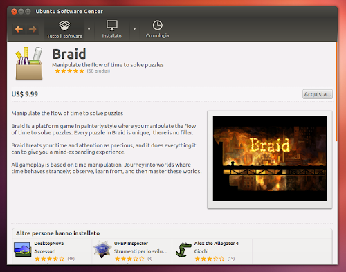 Ubuntu Software Center  - Braid