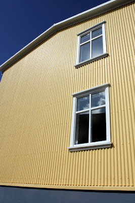 Yellow building in Reykjavik Iceland