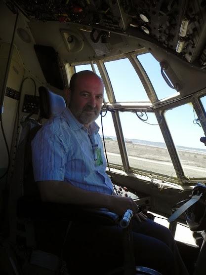 En la cabina del C130