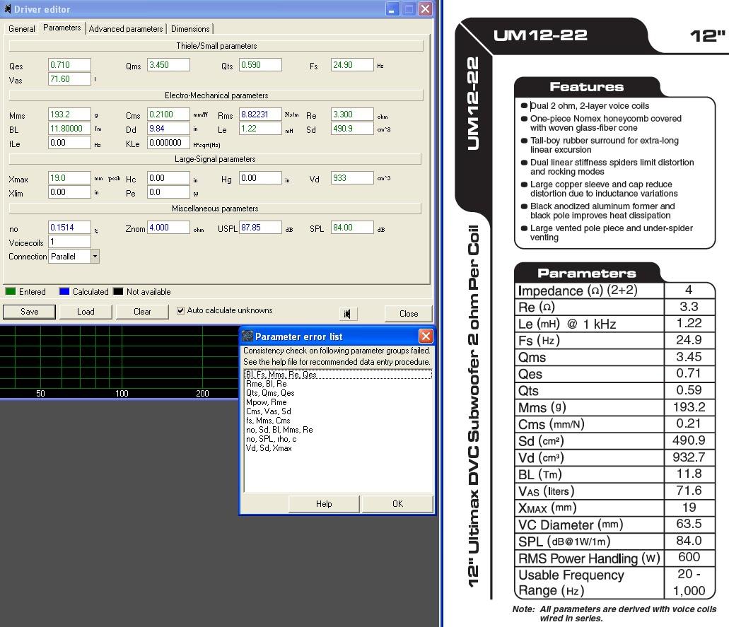 "NEW Dayton Audio UM12-22 12/"" Ultimax Series DVC Subwoofer 2 ohms per Coil"