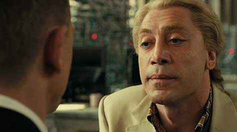 Skyfall, escena Daniel Craig y Javier Bardem