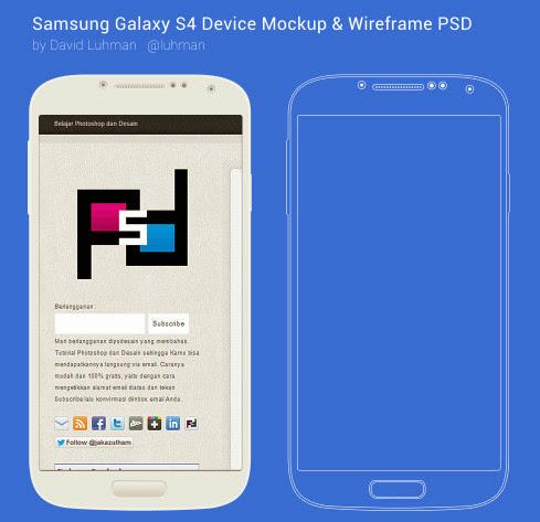 Mockup Samsung S4