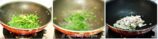 Methi Matar Malai Preparation