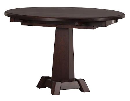 "45"" Diameter Round Turin Drop-Leaf Table in Rich Cherry"