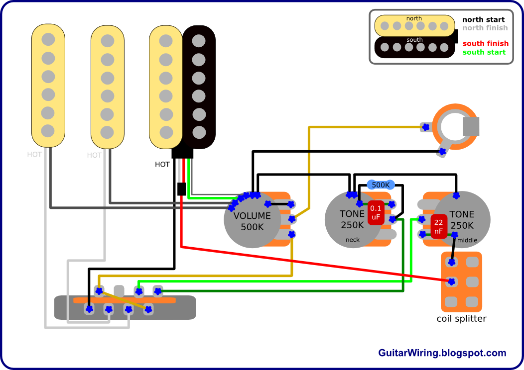 the guitar wiring blog diagrams and tips fat strat mod fender rh guitarwiring blogspot com Single Pickup Guitar Wiring Diagram Guitar Coil Tap Wiring Diagrams