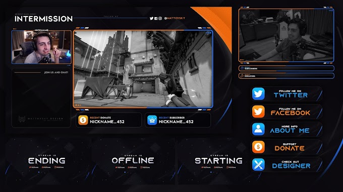 CLEAN STREAM OVERLAY TEMPLATE FREE DOWNLOAD