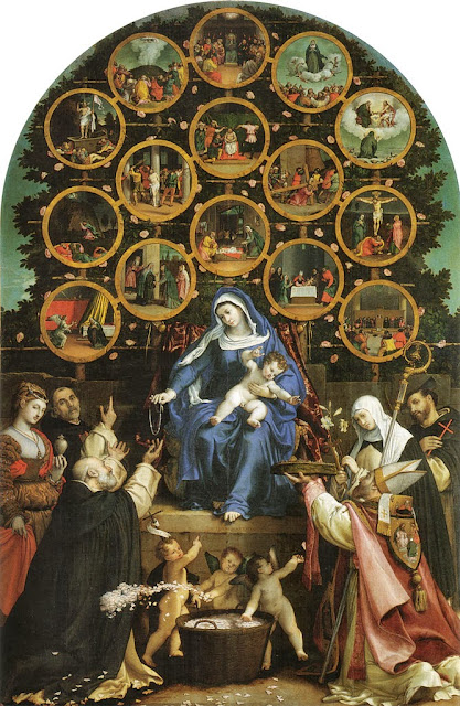 Lorenzo Lotto - Madonna of the Rosary