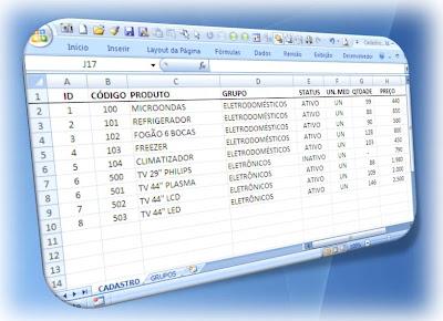 excel, vba, cadastro, macro, tabela, dados