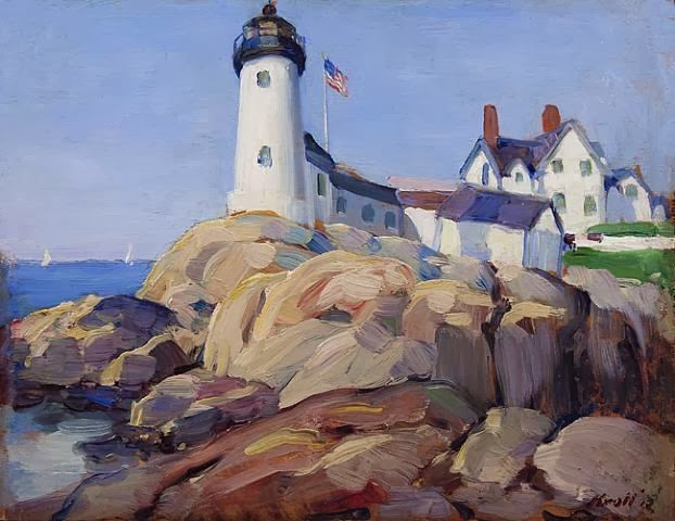 Leon Kroll - Eastern Point Lighthouse, Gloucester