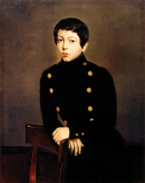 Théodore Chassériau - Portrait of Ernest Chasseriau, The Painter's Brother in the Uniform of the Ecole Navale in Brest about the Age of 13
