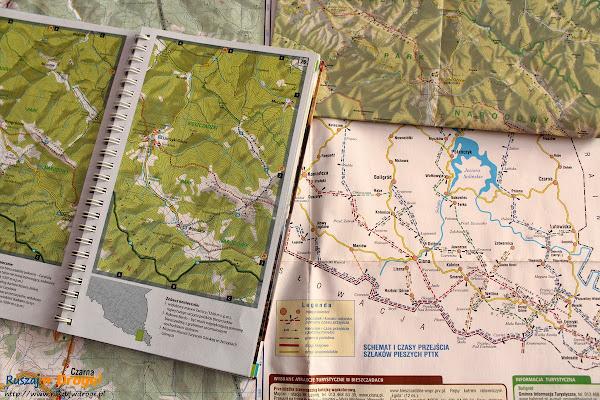 Komplet map, który zabieramy w Bieszczady