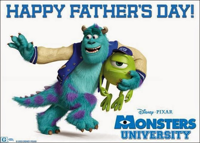 Happy Father's Day From Mike & Sulley at #MonstersU
