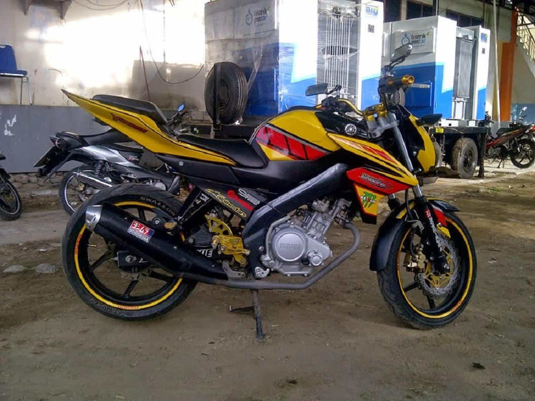 Modifikasi New Vixion Lighting Sederhana