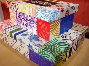 Idea para decorar una caja de zapato idea para reciclar - Decorar cajas de zapatos ...
