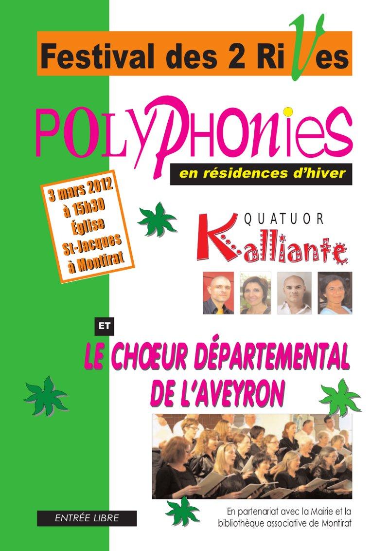 Polyphonies Festival des 2 rives Quator Kalliante