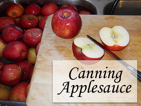 Canning Applesauce - Practical Savings
