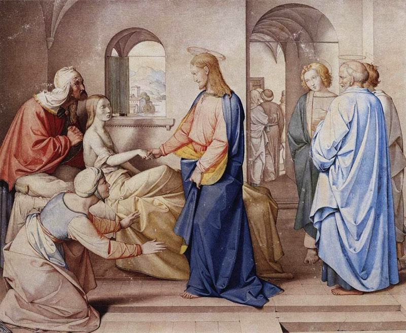 Johann Friedrich Overbeck - Christ Resurrects the Daughter of Jairu