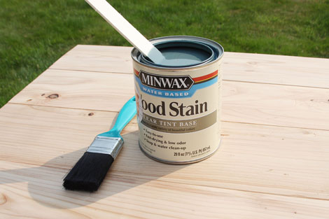 Minwax Water Based Stain Gray Ana White Woodworking Projects