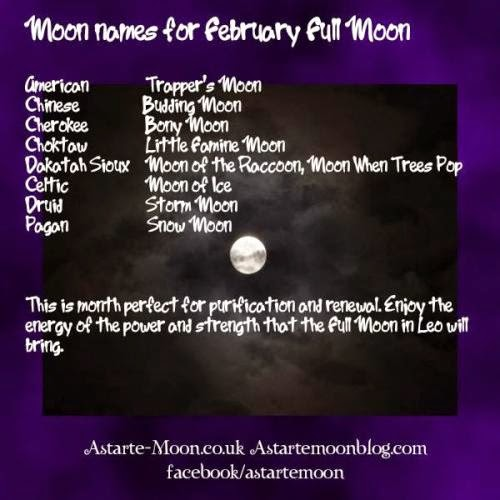 Full Moon In Leo February 2014 Snow Moon Trapper Moon