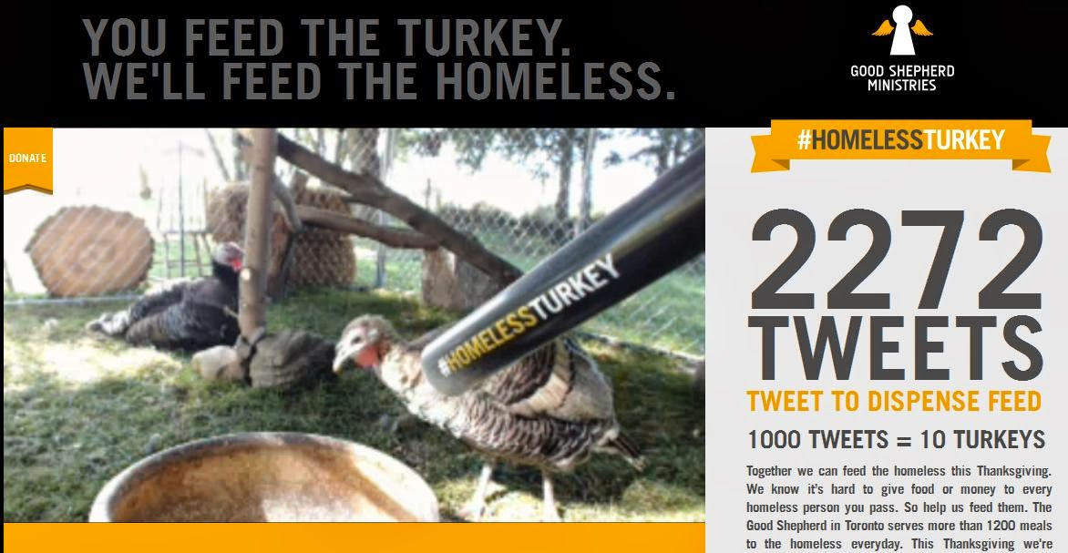 Toronto Ad Shop Creates A Twitter Powered #HomelessTurkey Campaign In An Effort To Feed Cities Homeless