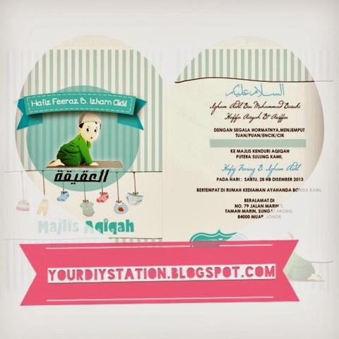 Do it yourself aqiqah invitation ready to print stopboris Gallery