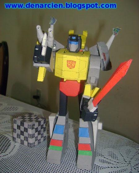 Transformers G1 Grimlock Papercraft