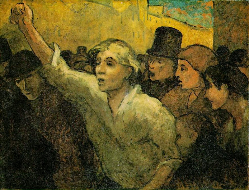 Honoré Daumier - The Uprising
