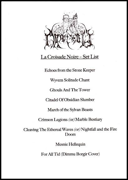 Set-list Darkenhöld @ Le Klub, Paris 05/05/2013