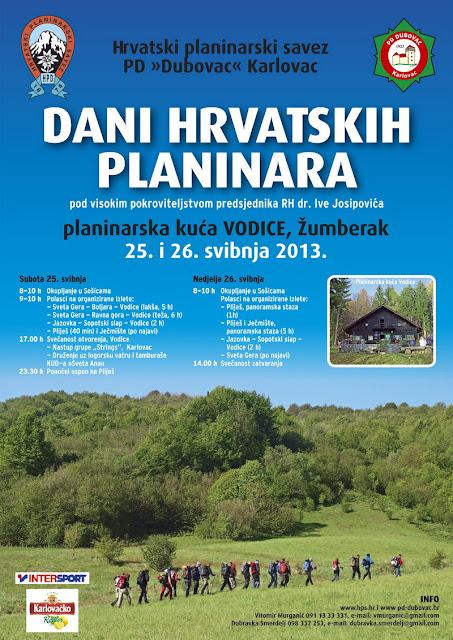 Dani hrvatskih planinara - Vodice (Žumberak), 25. - 26.5.2013.