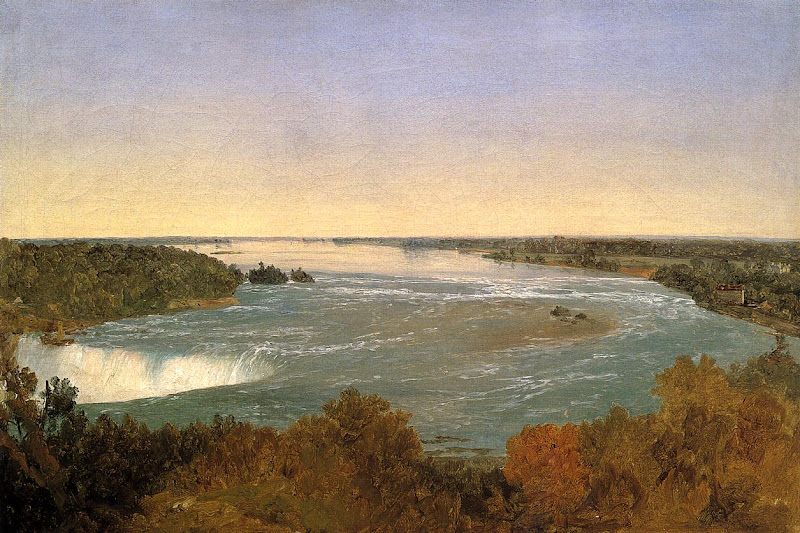 John Frederick Kensett - Niagara Falls and the Rapids
