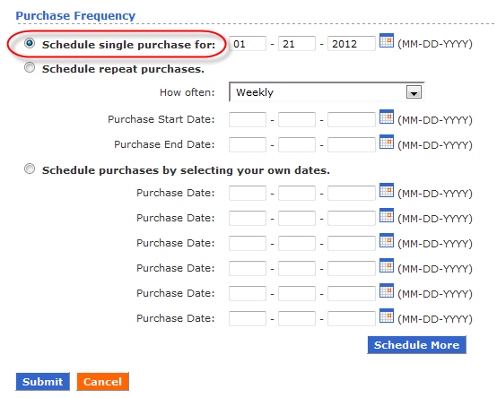 Purchase date