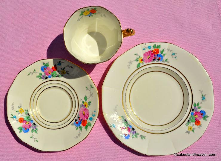 1930s Tuscan Teacup, Saucer, Tea Plate