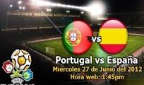 Espana Portugal 27 Junio Semifinales  EURO2012