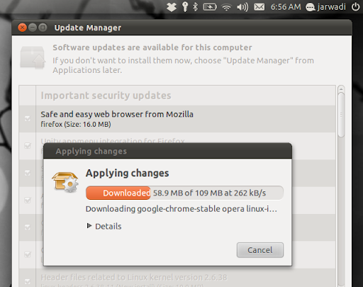 ubuntu is updating ...