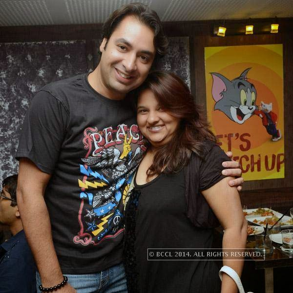 Kailash and Ritika during a party organised at Small World pub in Chennai.