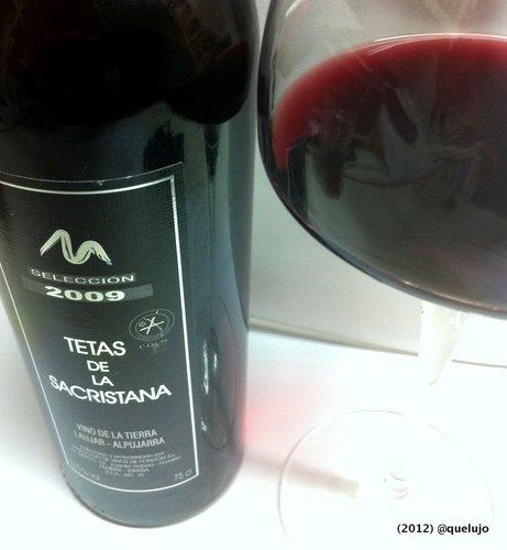 Vino tinto Tetas de la Sacristana Selección 2009 de Bodega Selección Vinos de Fondón, Vino de la Tierra de Laujar-Alpujarra.