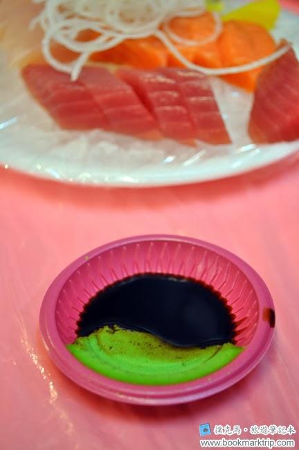 後壁湖彩莉鮮魚專賣店醬油和山葵