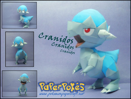 Pokemon Cranidos Papercraft