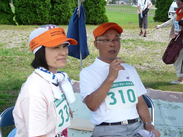 ゴール後、一服される加藤芳郎さん