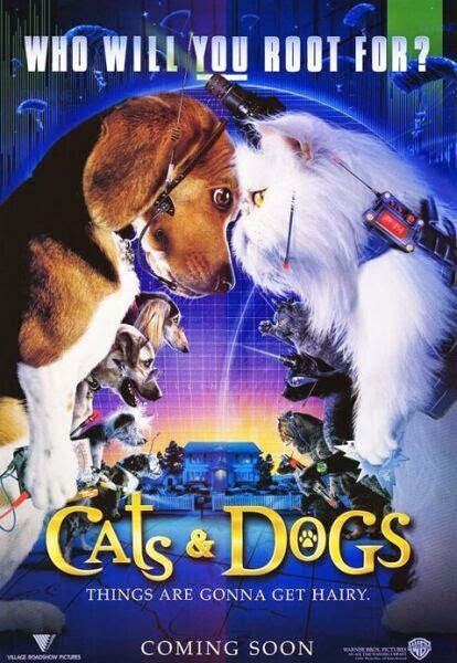 Poster Of Cats & Dogs (2001) Full Movie Hindi Dubbed Free Download Watch Online At alldownloads4u.com