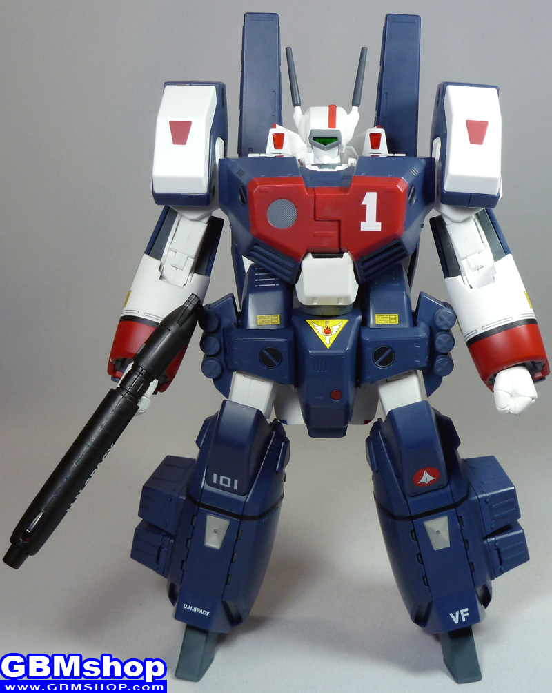 The Super Dimension Fortress Macross VF-1J GBP-1S Ground-combat protector weapon system Armored Valkyrie Hikaru Ichijo Custom Battroid Mode
