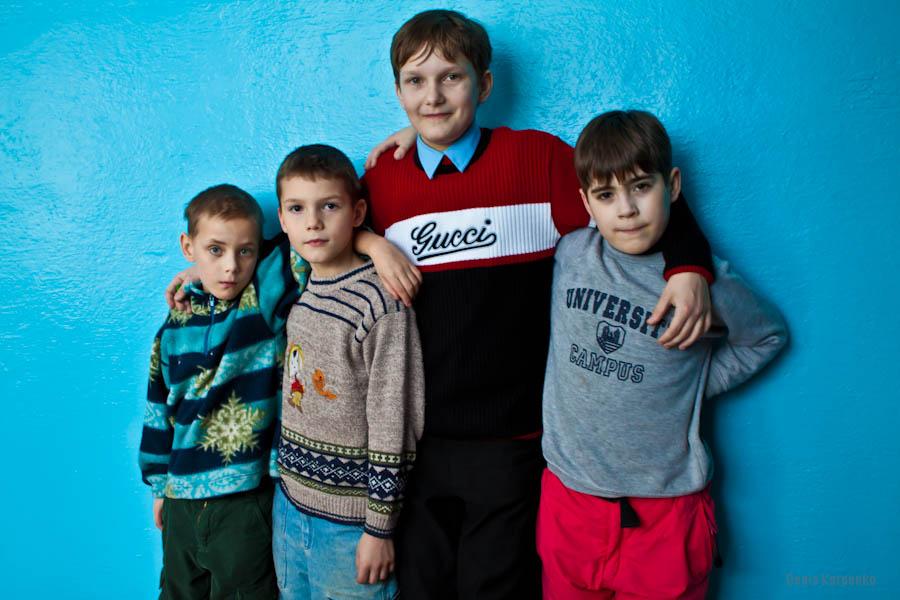 Воспитанники Ветринской школы-интерната. / 5 марта 2011г. / д.Быковщина, Беларусь