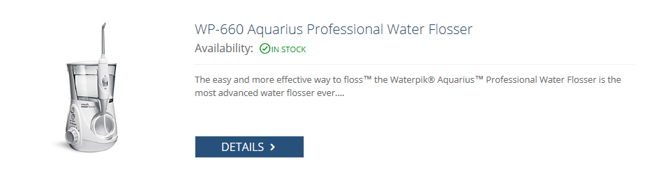 waterpik white aquarius 660 water flosser