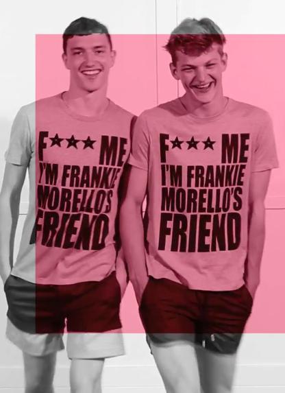 "Jacob Coupe + Sebastian Sauve, still from ""The Boys of Frankie Morello"" by Luca Finotti, 2011"