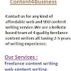 Content4Business - Content writing company India .