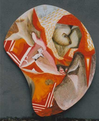 Geit en Gietijzer - schilderij van Atelier Bram de Haan