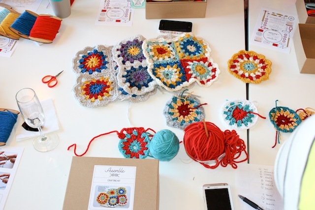 assemble shop crochet seattle bloggers meetup with pop-up shop craft + chat
